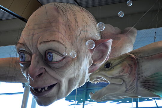 Gollum at the Wellington airport