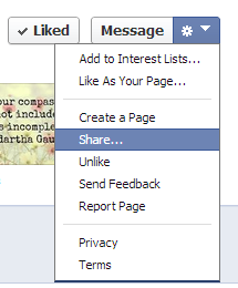 How to share a page on Facebook
